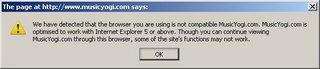 musicyogi.com error message